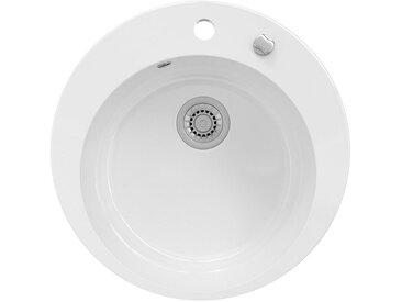 Bergstroem Küchenspüle »Keramik Spüle VALENCIA Beschichtet Küche Einbauspüle Spülbecken Weiß«