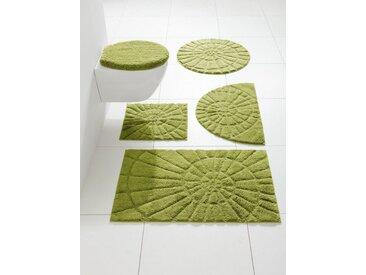 heine home Badgarnitur mit Hoch-Tief-Effekt in Muschelform, grün, grün