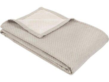 IBENA Wolldecke »Baumwoll-Tencel Decke Tennessee«, schlicht, grau, hellgrau