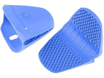 Kochblume Topfhandschuhe »Thermo-Fingerschutz«, (2-tlg), Hitzebeständig bis 230°, blau, hellblau