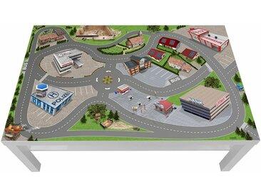 STIKKIPIX Möbelfolie »LCG05«, Stadt / City / Auto / Straße Möbelfolie, passgenau für den Lack Spieltisch von IKEA (Möbel Nicht inklusive)