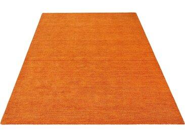 Theko Exklusiv Wollteppich »Gabbeh uni«, rechteckig, Höhe 15 mm, braun, terra