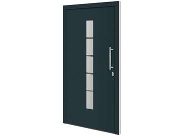 RORO Türen & Fenster RORO TÜREN & FENSTER Aluminium-Haustür »Otto 2«, BxH: 100x210 cm, anthrazit/weiß, ohne Griff, grau, rechts, anthrazit