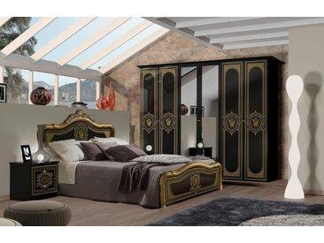 Schlafzimmer-Set »ALICE«, (4-St), mit Siebdruck im Kopfteil