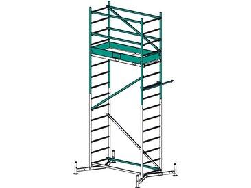 KRAUSE Gerüstzubehör »ClimTec 1. Aufstockung«, Max. Arbeitshöhe: 5 m, silberfarben, silberfarben