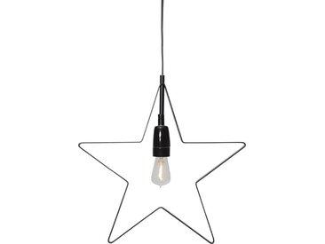 "STAR TRADING LED Stern »LED Hängestern/Dekoleuchte ""Orbit""- 5-zackig - E14 Fassung - D: 33cm - inkl. Leuchtmittel - schwarz«"