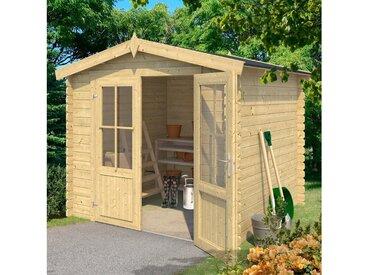 Outdoor Life Products Gartenhaus »Chicago«, BxT: 262x250 cm, natur, naturbelassen, natur
