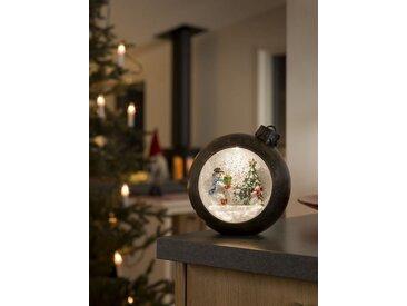 KONSTSMIDE LED Weihnachtskugel mit Schneemänner, braun, Lichtquelle warm-weiß, Braun