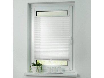 i@home Plissee »ohne Bohren Faltstore Fensterrollo Jalousie Faltrollo Plisee Klemmfix«, weiß, Weiß