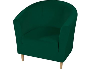 Dohle&Menk Sesselhusse »Susi«, in hochwertiger Samt-Optik, grün, Clubsesselhusse, dunkelgrün