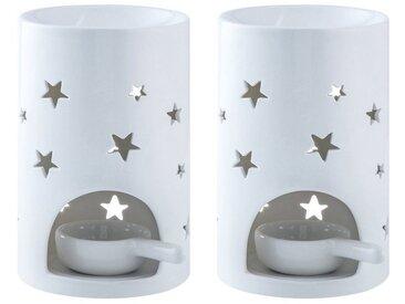LOVECASA Duftlampe (Set, 2 St), Duftlampe mit Kerzenhalter, Stern