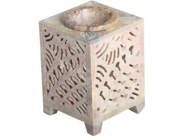 Casa Moro Duftlampe »Orientalische Duftlampe Shiva-3 aus Soapstone geschnitzt 8x8x11 cm (B/T/H) ätherisches Öl Diffusor, Teelicht-Halter für Aromatherapie