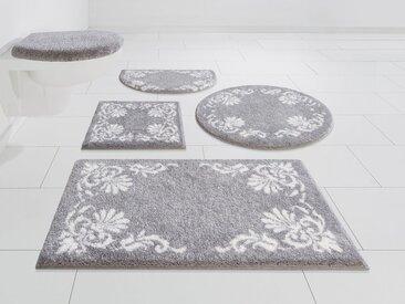 GRUND exklusiv Badematte »Chloe« , Höhe 20 mm, rutschhemmend beschichtet, fußbodenheizungsgeeignet, silberfarben, silberfarben-grau