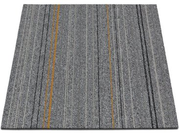 casa pura Teppichfliese »Warsaw«, Quadratisch, Höhe 6 mm, Selbstliegend, grau, Hellgrau 21