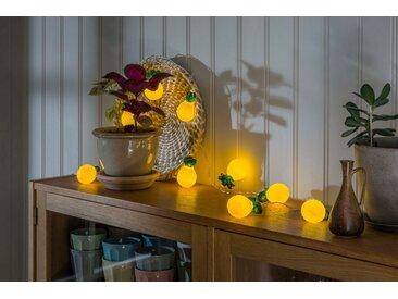 KONSTSMIDE LED Dekolichterkette, gelb, Ananas, Lichtquelle warm-weiß, Gelb