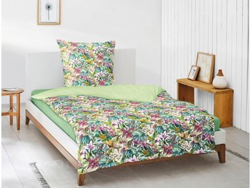 Irisette Bettwäsche »Juwel-K 8893«, mit tropischem Allover-Blumenprint, grün, 1 St. x 155 cm x 220 cm, paradies