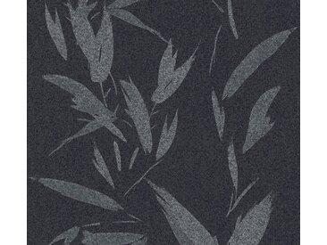 A.S. Création Vliestapete »New Elegance«, aufgeschäumt, mehrfarbig, floral, mit Blumenmotiv, floral, grau, dunkelgrau-schwarz