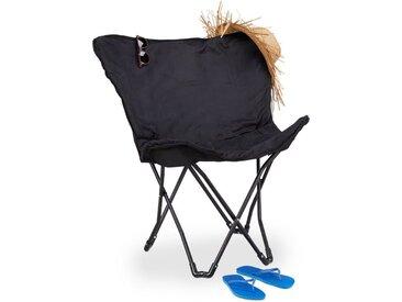 relaxdays Campingstuhl »Butterfly Chair klappbar«