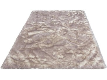 my home Fellteppich »Sammo«, rechteckig, Höhe 60 mm, Kunstfell, sehr weicher Flor, weiß, grau-weiß