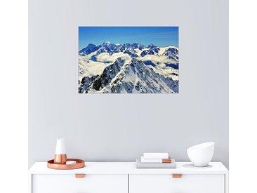 Posterlounge Wandbild, Mont Blanc Massiv mit Wolken, Acrylglasbild