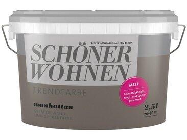 SCHÖNER WOHNEN-Kollektion SCHÖNER WOHNEN FARBE Wand- und Deckenfarbe »Trendfarbe Manhattan, matt«, 2,5 l, grau, Manhatten