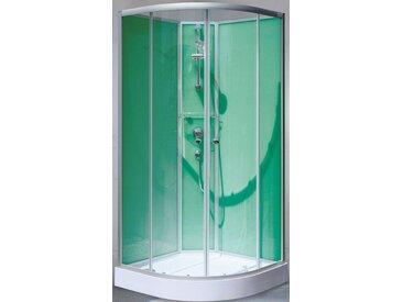 Schulte SCHULTE Set: Komplettdusche »Kreta«, Viertelkreisdusche, BxT: 89 x 89 cm, silberfarben, beidseitig montierbar, chromfarben