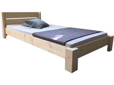 LIEGEWERK Bett »Designbett mit Kopfteil Massivholzbett hergestellt in BRD in 90 100 120 140 160 180 200 x 200cm Bett Holz«, 100 x 200cm