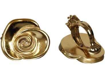 Liedeco Dekoklammer »Rose«, Gardinen, Vorhänge, (Packung, 2-St), für Gardinen, Vorhänge, goldfarben, messingfarben
