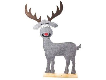 HTI-Living Tierfigur »Filz-Rentier auf Holzfuß Filz-Rentier auf Holzfuß«