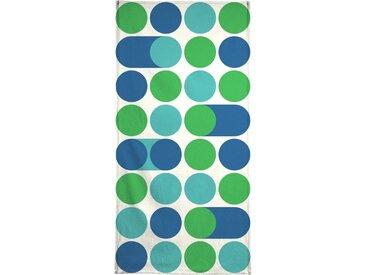 Juniqe Strandtuch »Blue Beep« (1-St), Weiche Frottee-Veloursqualität