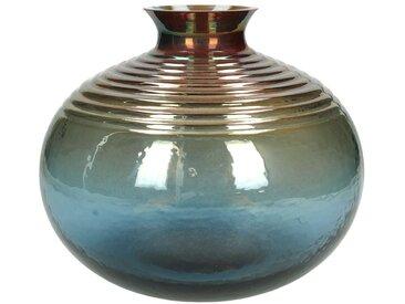 Engelnburg Dekovase » Vase Blumenvase Glas Blau 18x21x21«