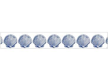 MySpotti MYSPOTTI Fensterfolie »mySPOTTI look Shells blue«, 200 x 30 cm, statisch haftend, blau, 200 cm, blau/weiß