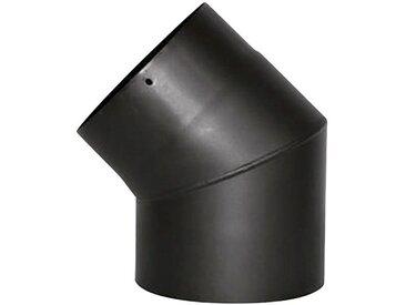 JUSTUS ORANIER Rauchrohr Ø 150 mm, Ofenrohr für Kaminöfen, schwarz, schwarz