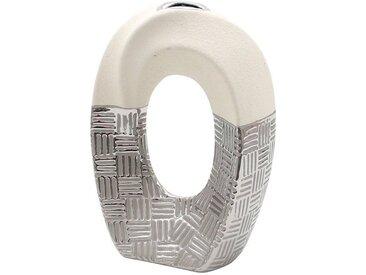 Dekohelden24 Dekovase »Edle moderne Deko Designer Keramik Vase geschwunge« (1 Stück)