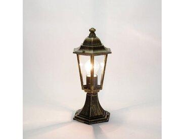 Licht-Erlebnisse Sockelleuchte »VELENCE Wegeleuchte rustikal Gold Antik wetterfest Garten Lampe«