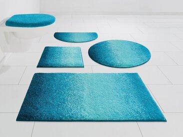 GRUND exklusiv Badematte »Mistral« , Höhe 20 mm, rutschhemmend beschichtet, fußbodenheizungsgeeignet, blau, türkis