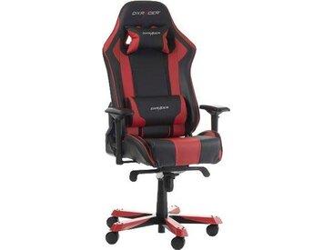 DXRacer Gaming Chair King-Serie, OH/KS06, rot, schwarz/rot
