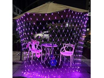 TOPMELON Lichterkette, LED Net Mesh Lichterkette, Wasserdicht, 4 Größen,Weihnachtsdekoration, rosa, 200 St., Rosa