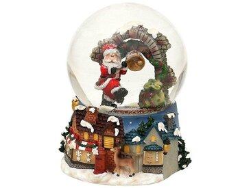 SIGRO Schneekugel »Santa am Torbogen«, bunt, Bunt