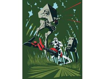 Komar KOMAR Wanddekoration »Star Wars Classic Vector Endor«, ohne Rahmen, bunt, 30 cm, bunt