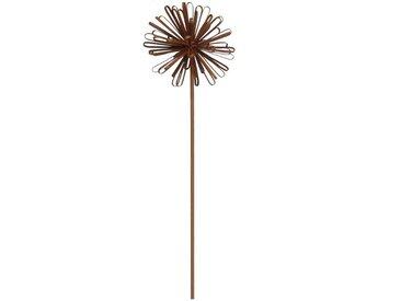 Dehner Gartenstecker »Dekostab Pusteblume, Metall, rostfarben«