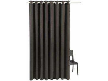 my home Verdunkelungsvorhang »Solana«, Ösen (1 Stück), Vorhang, Fertiggardine, Gardine, Breite 280 cm, verdunkelnd, schwarz, schwarz