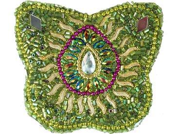 Guru-Shop Aufbewahrungsdose »Indisches Schmuckdöschen, Perlendöschen,..«, grün, grün-mehrfarbig