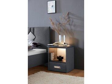 Westfalia Schlafkomfort Nachtkonsole »Brilon«, mit indirekter LED-Beleuchtung, grau, Charcoal-Schieferoptik Anthrazit