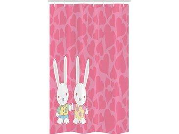 Abakuhaus Duschvorhang »Badezimmer Deko Set aus Stoff mit Haken« Breite 120 cm, Höhe 180 cm, Hase Zu zweit Hasen in Romantik