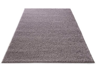 Bruno Banani Hochflor-Teppich »Shaggy Soft«, rechteckig, Höhe 30 mm, gewebt, blau, mauve