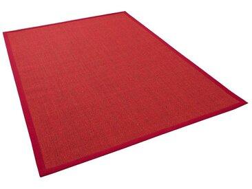 Pergamon Sisalteppich »Sisalteppich Natura Klassisch mit Bordüre«, Rechteckig, Höhe 6 mm, rot, Rot