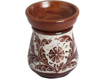Casa Moro Duftlampe »Orientalische Duftlampe Shakir-6 aus Soapstone geschnitzt 10x10x11 cm (B/T/H) Diffusor, Teelicht-Halter für Aromatherapie