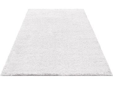 Bruno Banani Hochflor-Teppich »Shaggy Soft«, rechteckig, Höhe 30 mm, weiß, weiß