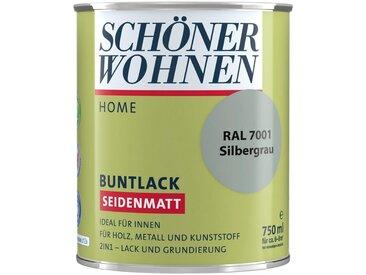 SCHÖNER WOHNEN-Kollektion SCHÖNER WOHNEN FARBE Lack »Home Buntlack«, seidenmatt, 750 ml, silbergrau RAL 7001, grau, grau